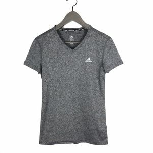 Adidas Climalite Gray V-Neck Athletic T-Shirt XS